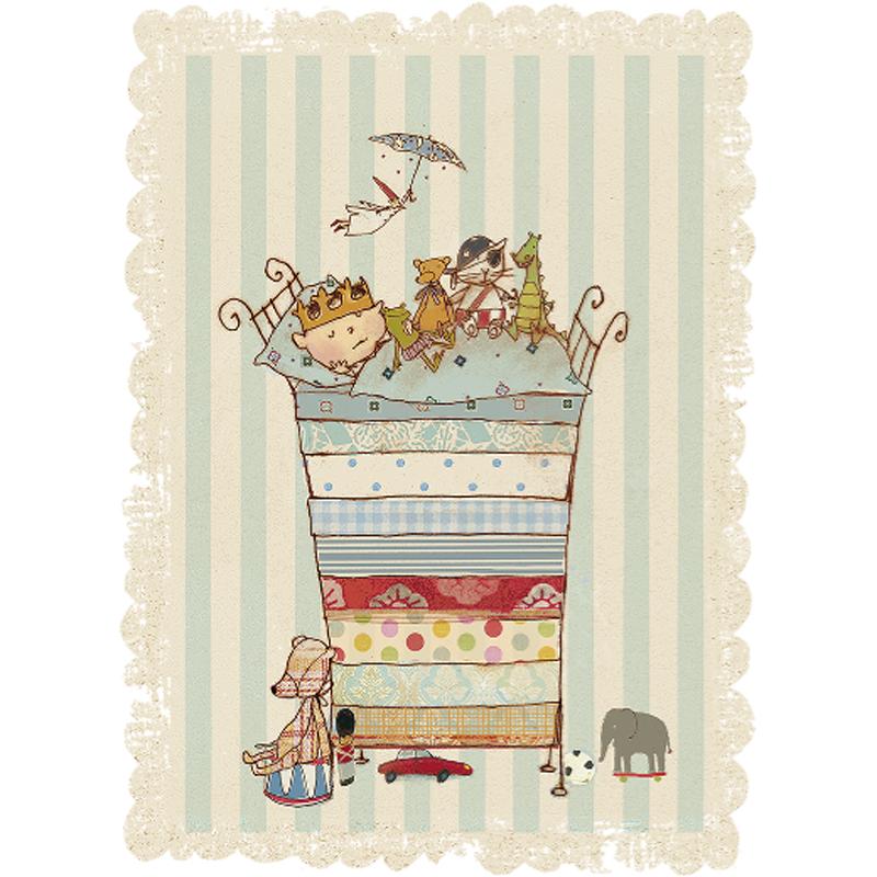 a10099x.jpg - Kort med kuvert, Prinsen sover - Elsashem Butiken med det lilla extra...
