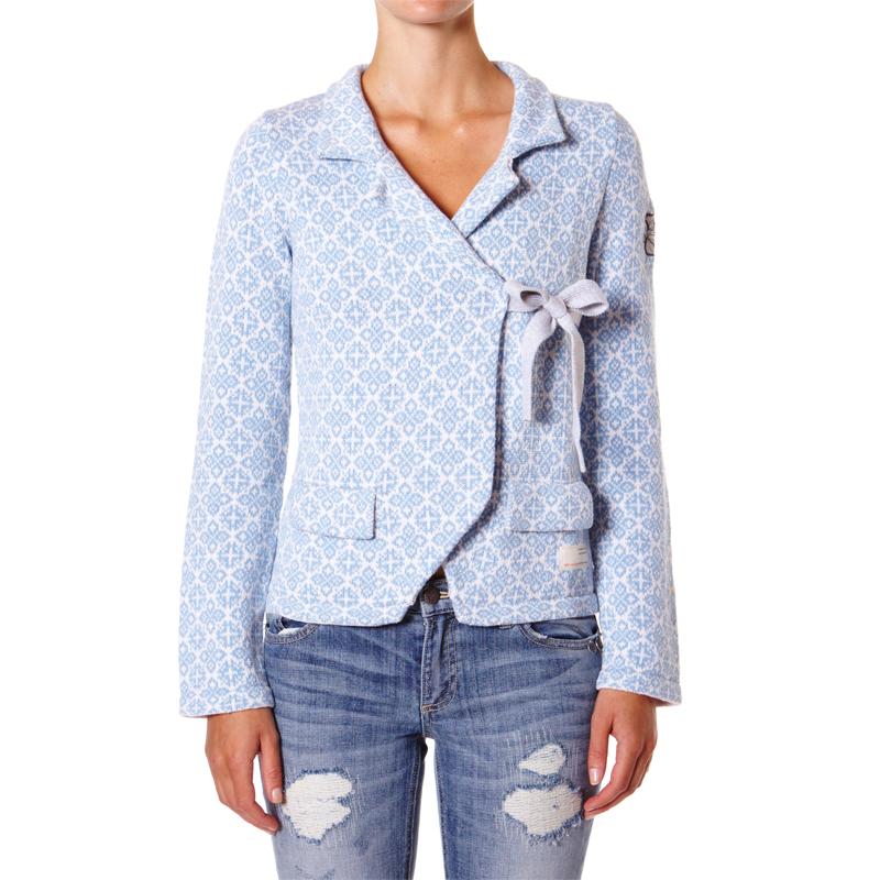 odd molly lovely knit jacket blue