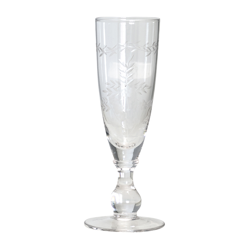 a10305x.jpg - Champagne glass with cutting, Clear - Elsashem Butiken med det lilla extra...