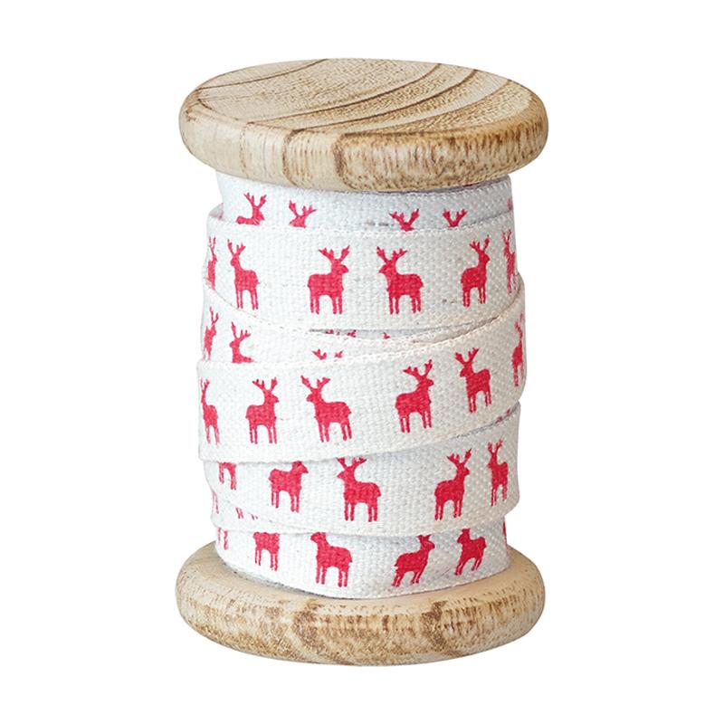 a10390x.jpg - Rulle med band, Reindeer Red - Elsashem Butiken med det lilla extra...