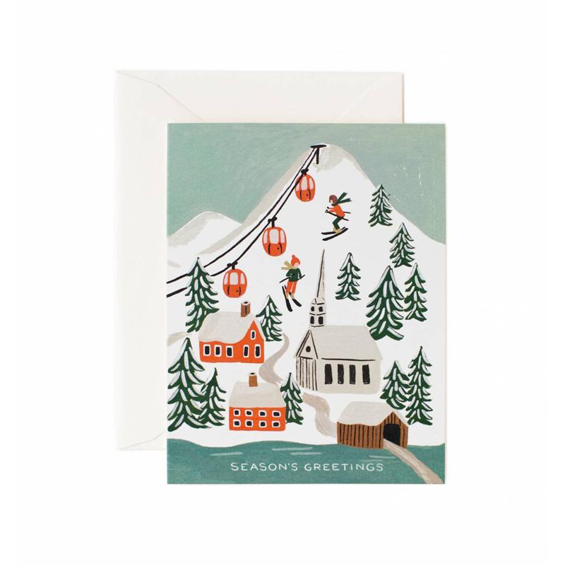 a10653-2x.jpg - Kort med kuvert, Holiday Snow Scene - Elsashem Butiken med det lilla extra...