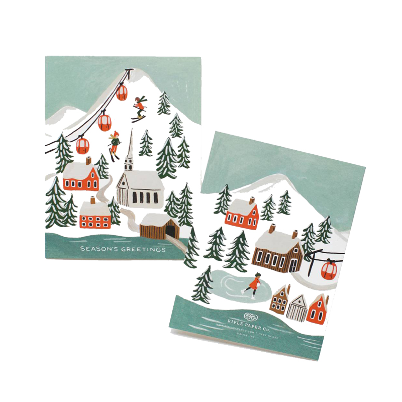 a10653x.jpg - Kort med kuvert, Holiday Snow Scene - Elsashem Butiken med det lilla extra...