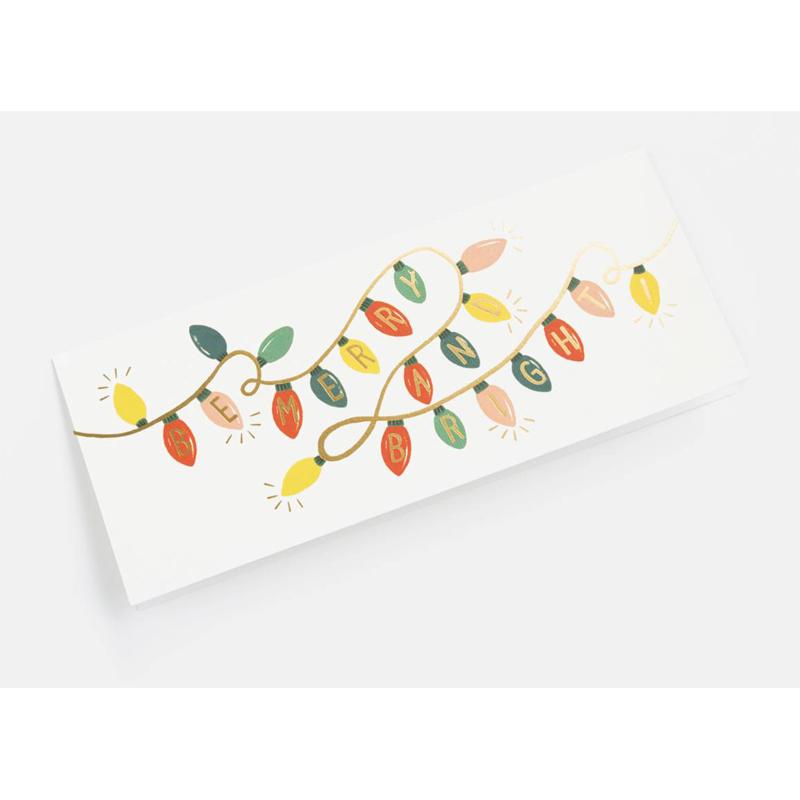 a10654x.jpg - Kort med kuvert, Be Merry and Bright Lights - Elsashem Butiken med det lilla extra...