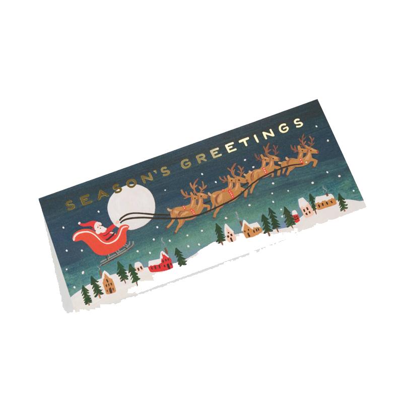 a10655x.jpg - Kort med kuvert, Santa´s Sleigh - Elsashem Butiken med det lilla extra...