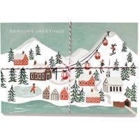 Senaste nytt Set med 10 st vykort, Holiday Snow Scene