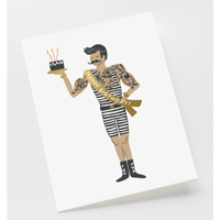 Senaste nytt Kort med kuvert, Strongman Birthday