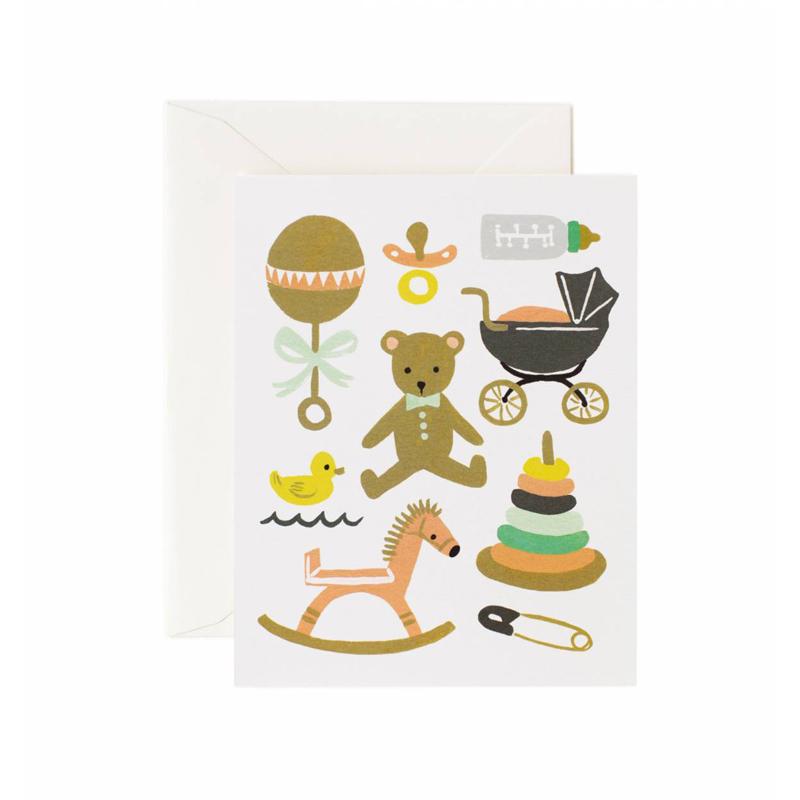 a10668-2x.jpg - Kort med kuvert, Classic Baby - Elsashem Butiken med det lilla extra...