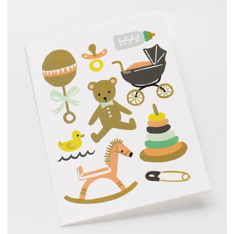 a10668x.jpg - Kort med kuvert, Classic Baby - Elsashem Butiken med det lilla extra...