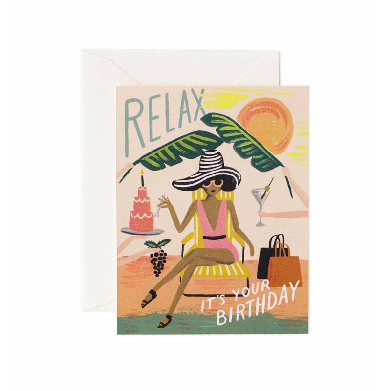 a10669x.jpg - Kort med kuvert, Relax Birthday - Elsashem Butiken med det lilla extra...
