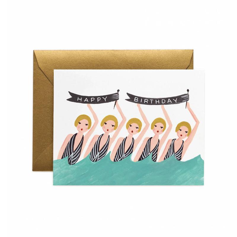 a10673x.jpg - Kort med kuvert, Synchronized Birthday - Elsashem Butiken med det lilla extra...