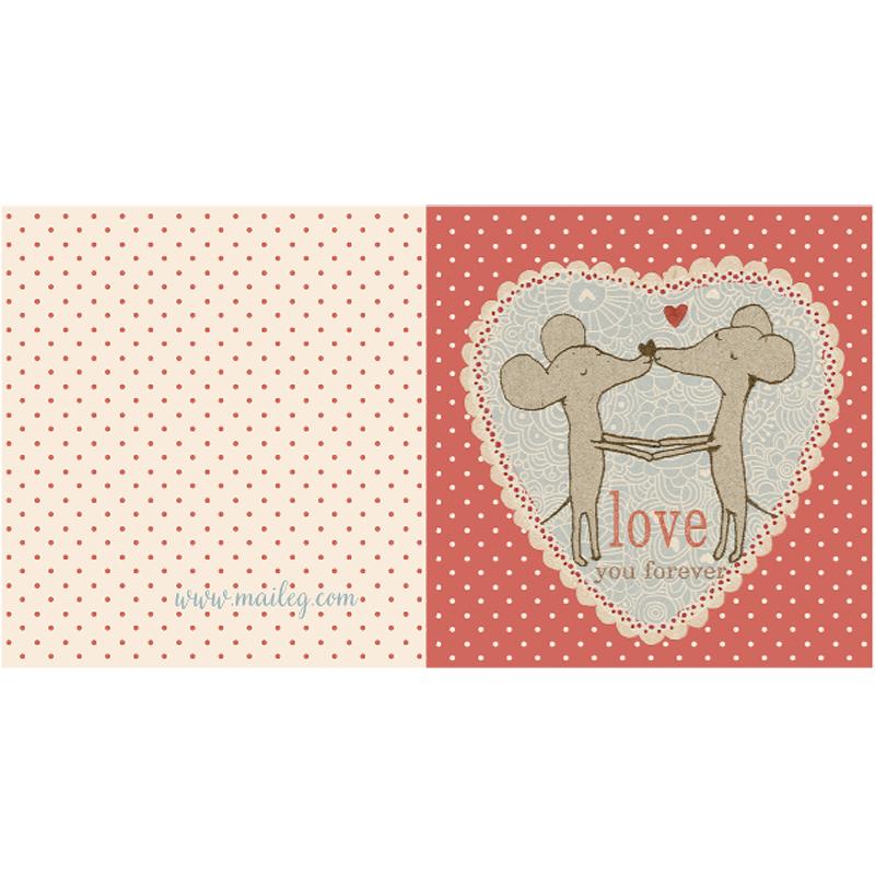 a10697x.jpg - Kort med kuvert, Mice in love - Elsashem Butiken med det lilla extra...