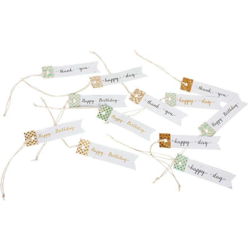a10699x.jpg - Paper Tags, 12pcs/pck - Elsashem Butiken med det lilla extra...