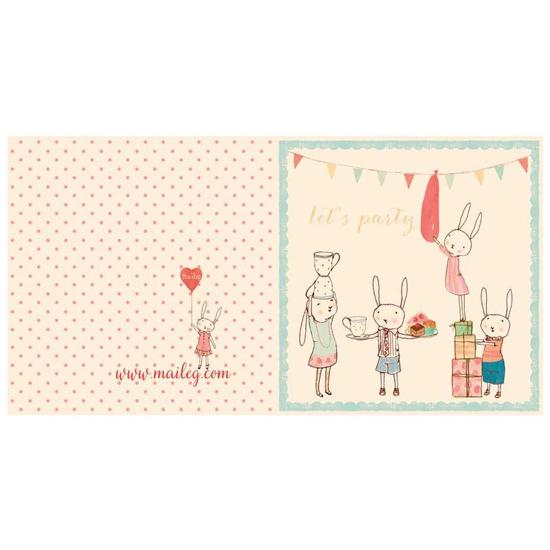 a10749x.jpg - Kort med kuvert, Bunny Party - Elsashem Butiken med det lilla extra...
