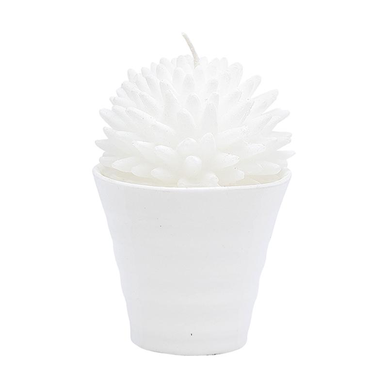 a10797x.jpg - Candle Cactus, White - Elsashem Butiken med det lilla extra...