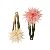 Senaste nytt Set med 2 hårspännen, Dahlia Flower Clips Vanilla