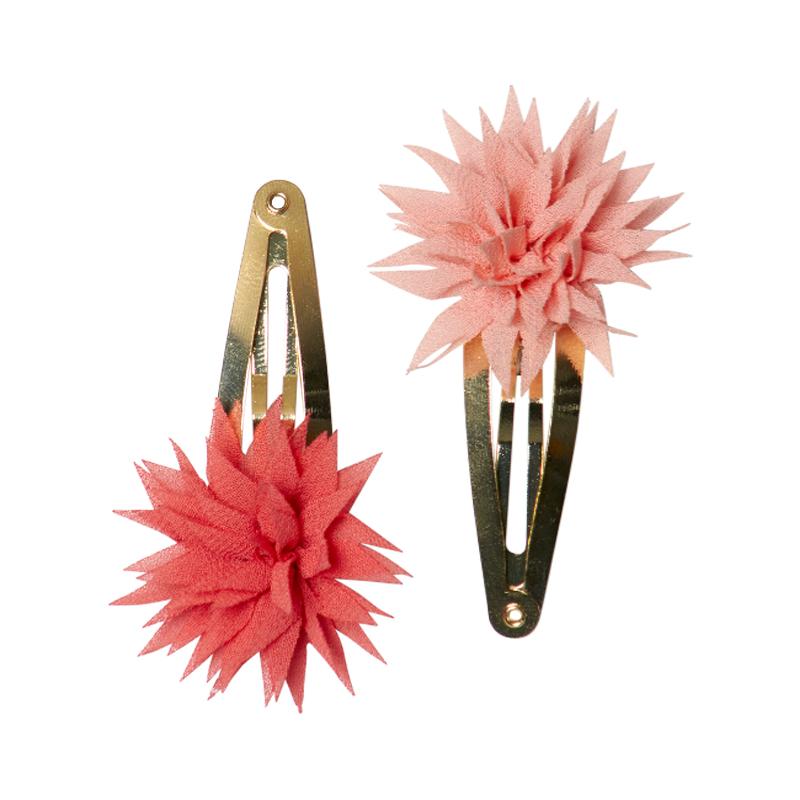 a11312x.jpg - Set med 2 hårspännen, Dahlia Flower Clips Raspberry & Melon - Elsashem Butiken med det lilla extra...