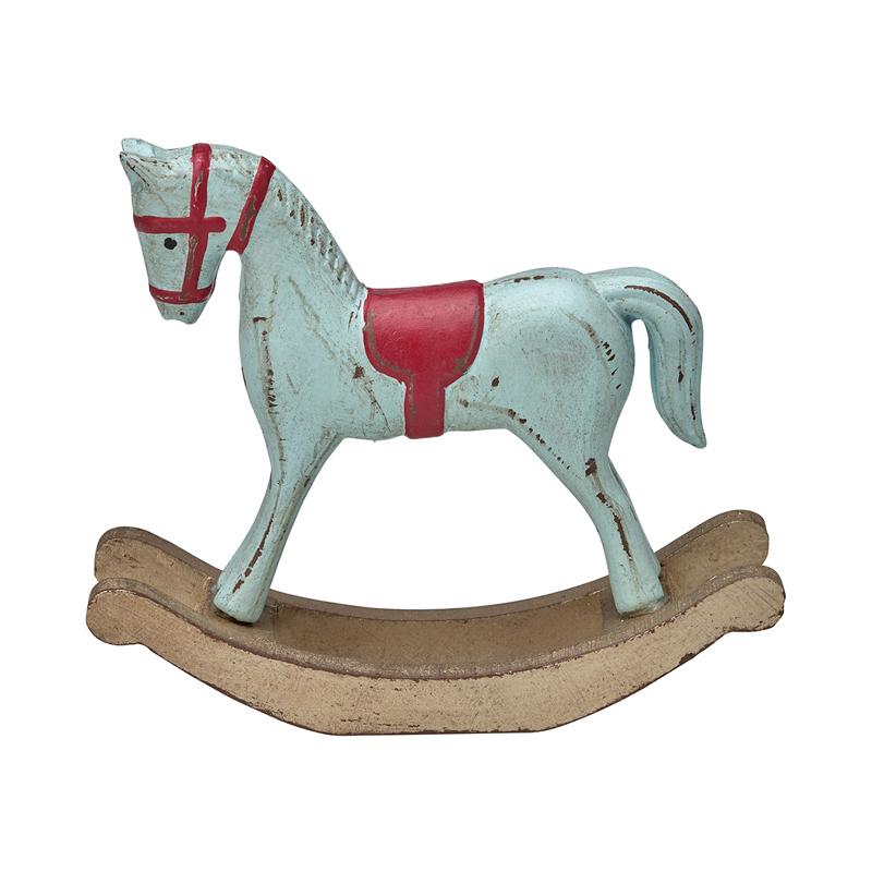 a11553x.jpg - Decoration Rocking Horse, Mint w/red - Elsashem Butiken med det lilla extra...