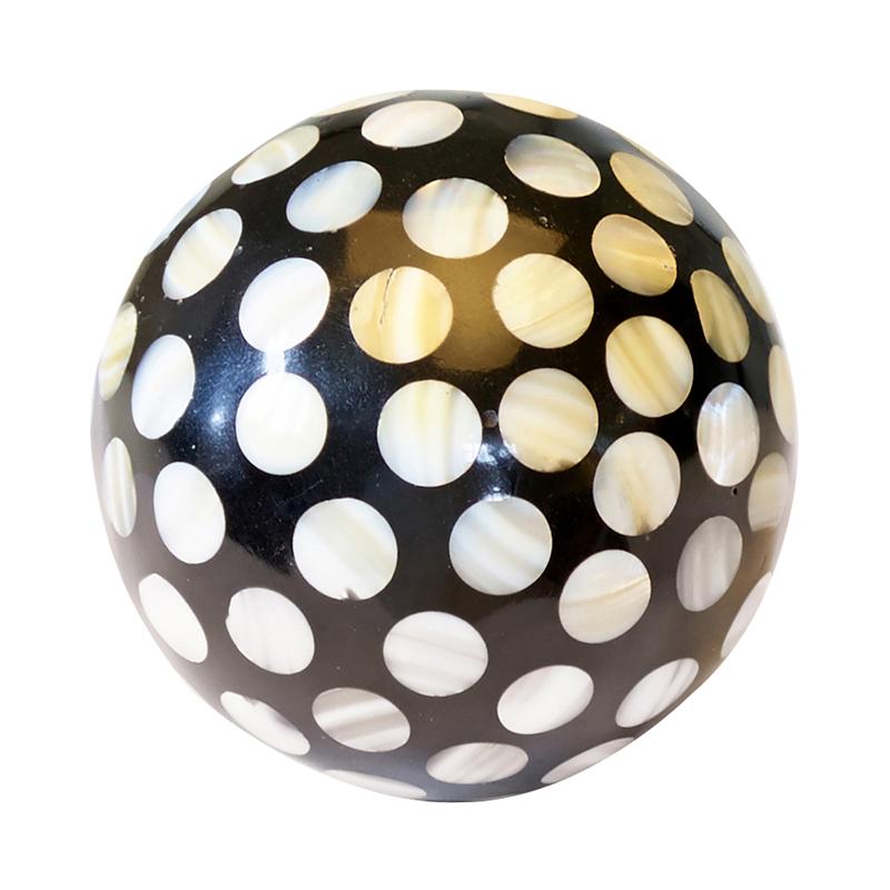 a11556x.jpg - Decoration ball white Dots in black, Small - Elsashem Butiken med det lilla extra...
