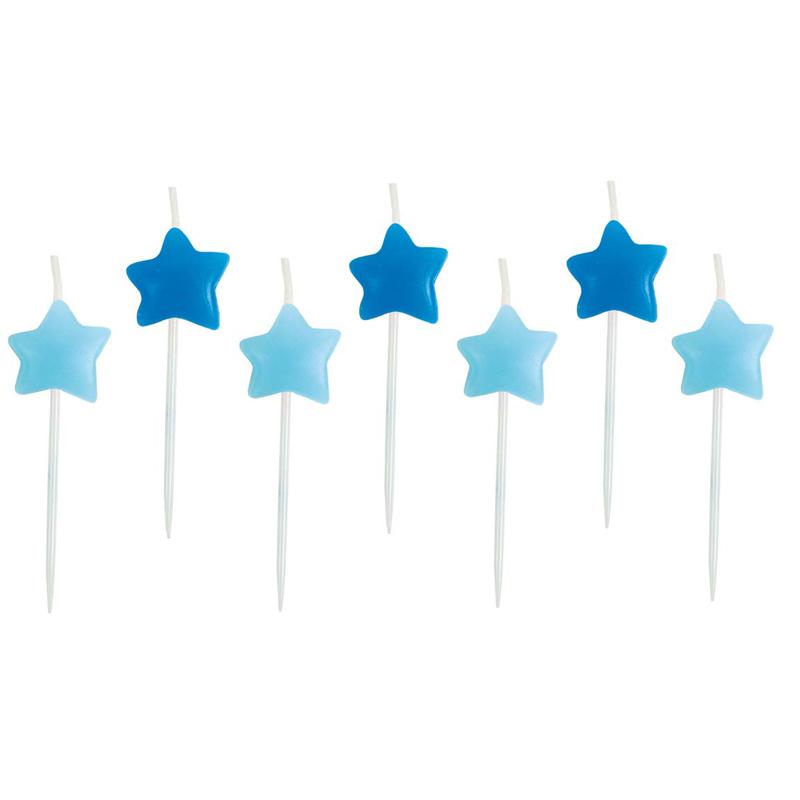 a11582x.jpg - Tårtljus Stjärna, Ljusblå - Elsashem Butiken med det lilla extra...