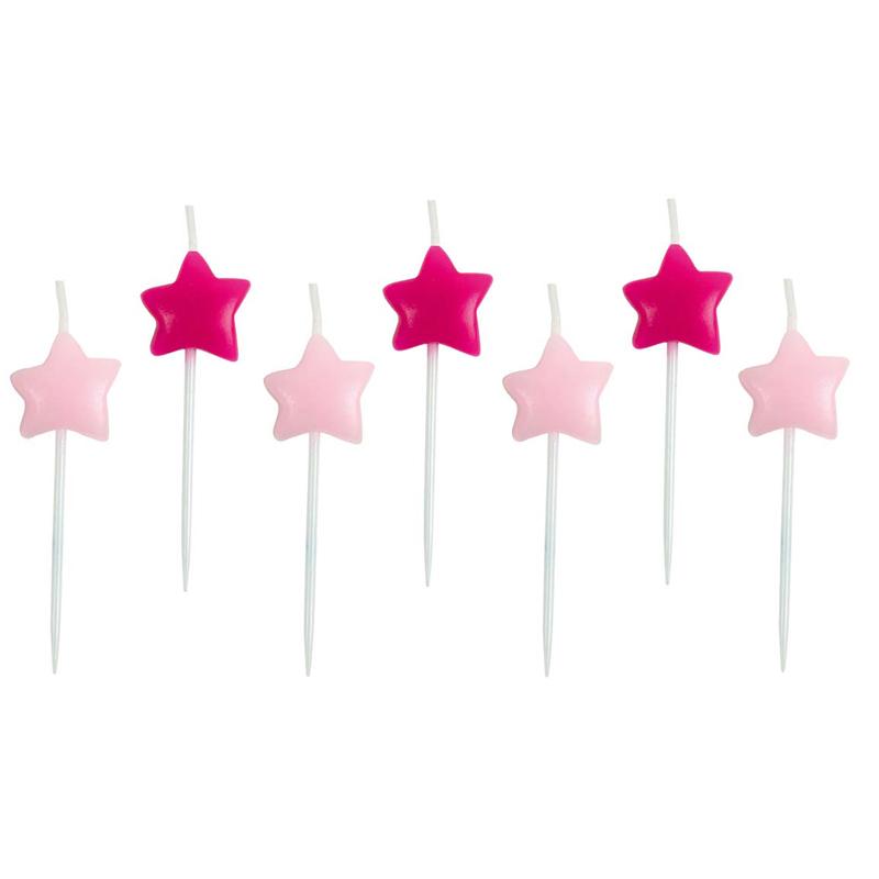 a11583x.jpg - Tårtljus Stjärna, Rosa - Elsashem Butiken med det lilla extra...