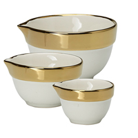 Senaste nytt Measuring bowl Gold rim set of 3 pcs