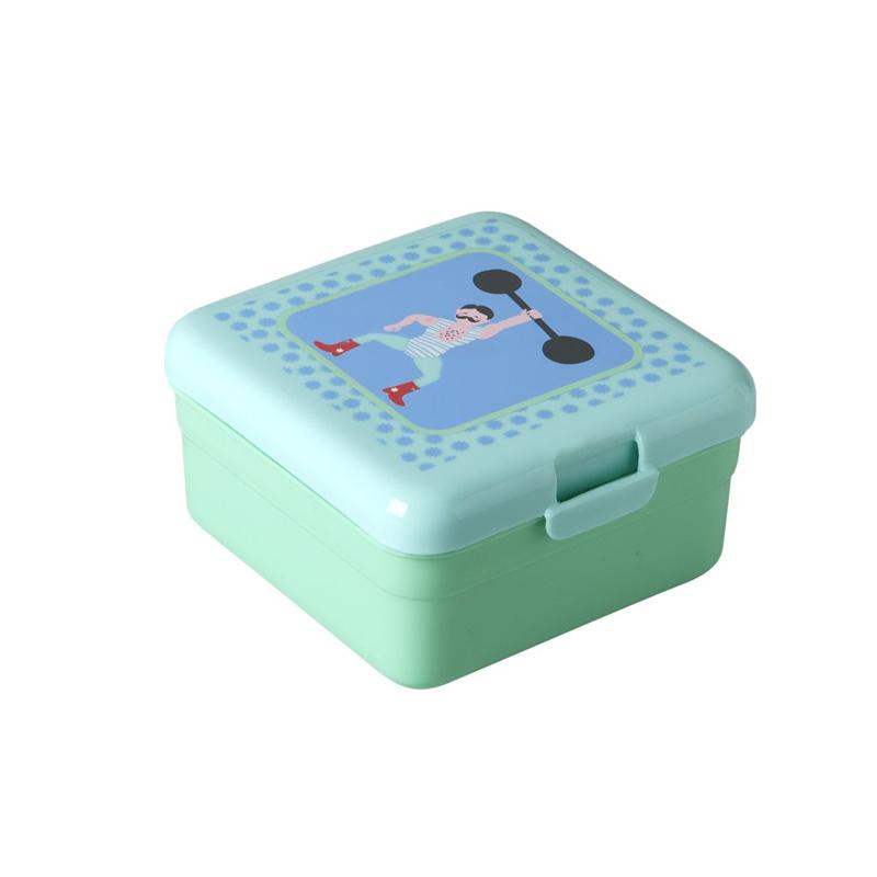 a11611x.jpg - Lunchbox Circus print, Green - Elsashem Butiken med det lilla extra...