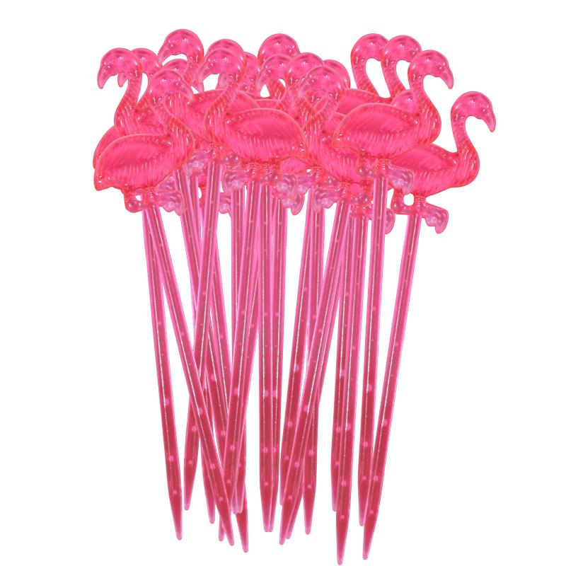 a11645-2x.jpg - 20 Plastic Flamingo Cocktail Sticks - Elsashem Butiken med det lilla extra...