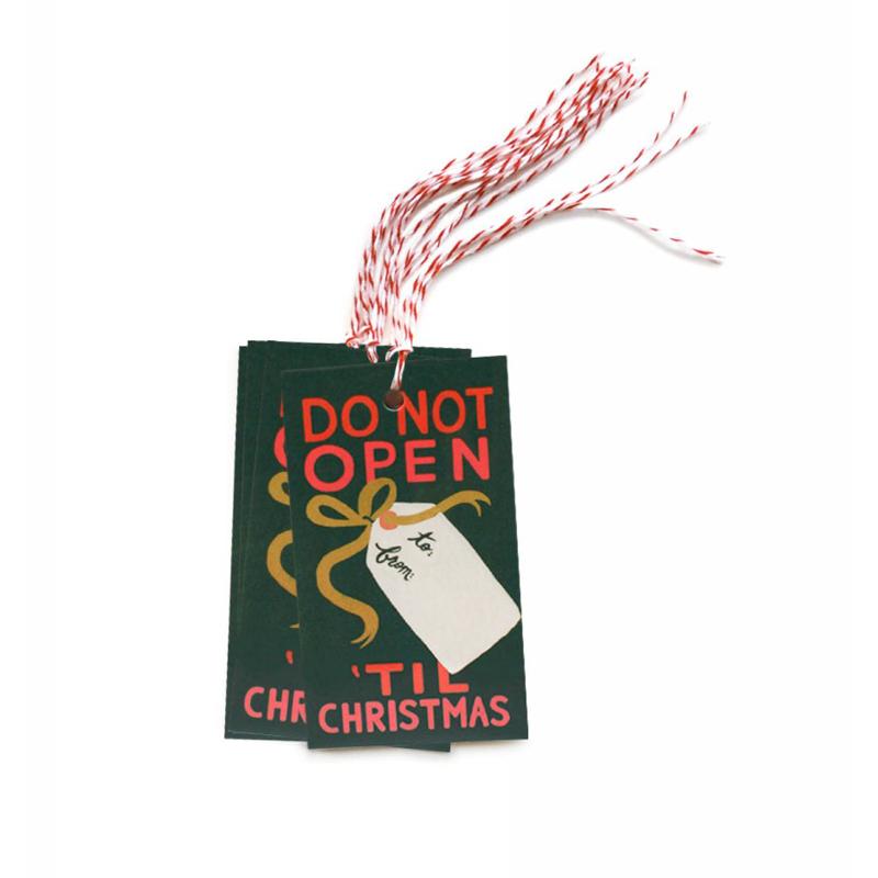 a11674x.jpg - Set med 10 st Do Not Open ´Til Christmas Gift tags - Elsashem Butiken med det lilla extra...