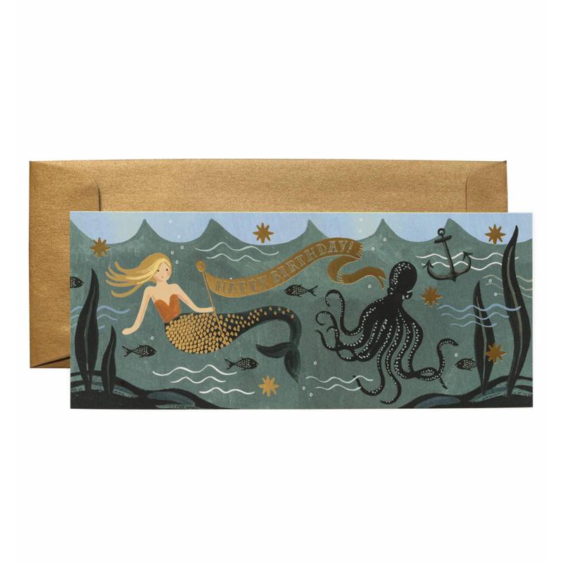 a11675x.jpg - Kort med kuvert, Under The Sea Birthday Card - Elsashem Butiken med det lilla extra...
