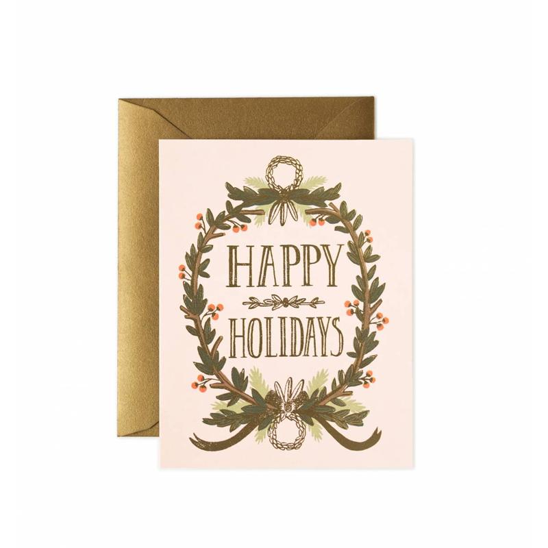 a11679x.jpg - Kort med kuvert, Gold Foil Garland - Elsashem Butiken med det lilla extra...