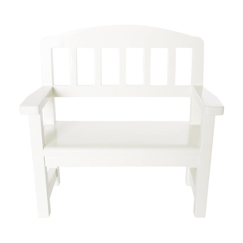 a11726x.jpg - Wooden Bench, Off White - Elsashem Butiken med det lilla extra...