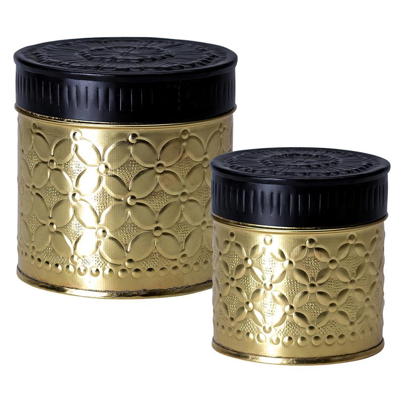 a11810x.jpg - Set med 2 burkar, Gold - Elsashem Butiken med det lilla extra...