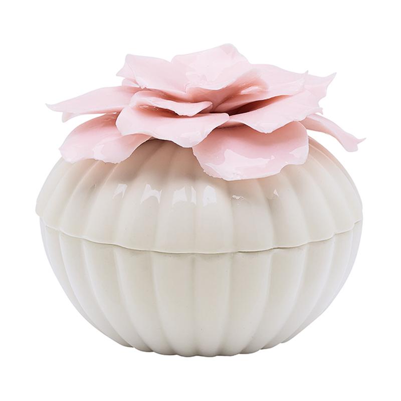 a11852x.jpg - Jewelry box w/flower, White Large - Elsashem Butiken med det lilla extra...