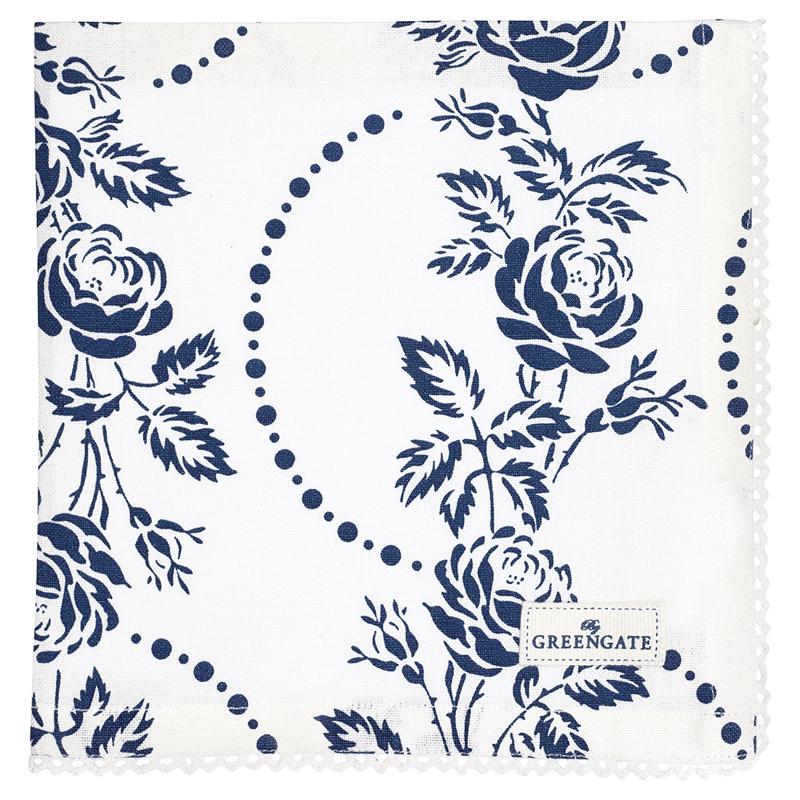 a11901x.jpg - Servett Fleur, Blue - Elsashem Butiken med det lilla extra...