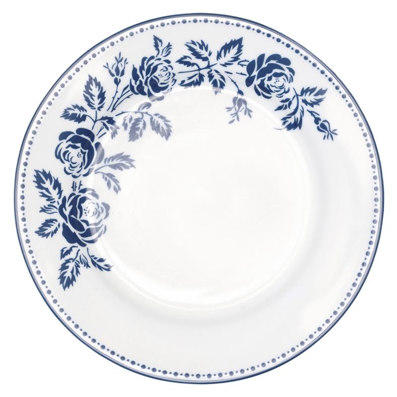 a12076x.jpg - Assiette Fleur, Blue - Elsashem Butiken med det lilla extra...