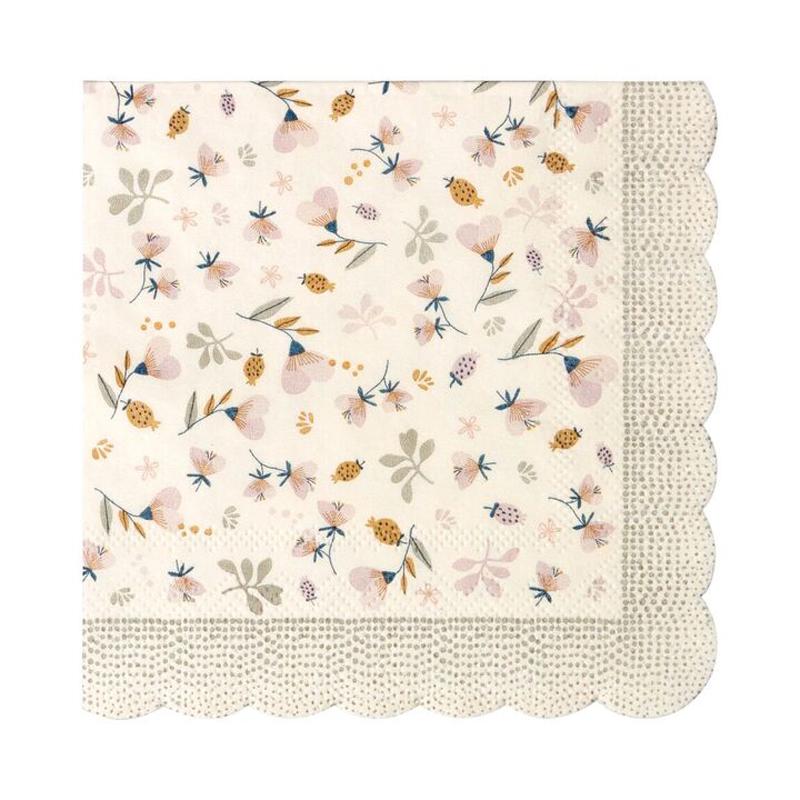 a12149x.jpg - Servetter Flower Field, Powder - Elsashem Butiken med det lilla extra...