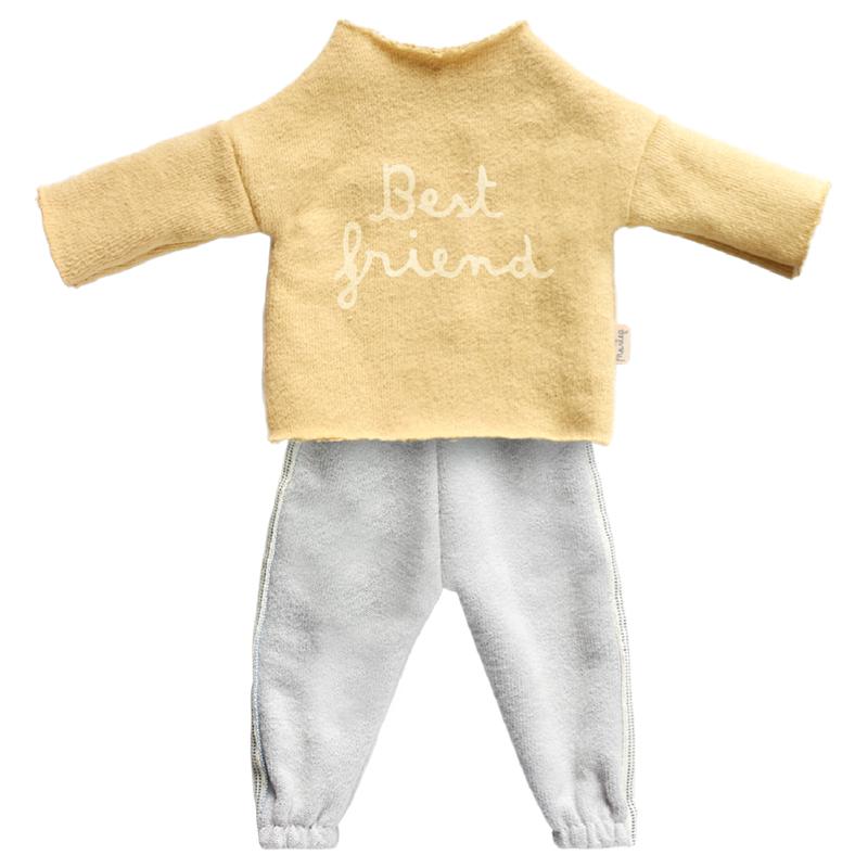 a12195x.jpg - Best Friends, Jogging suit Yellow - Elsashem Butiken med det lilla extra...