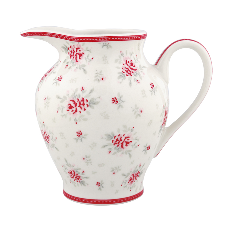 a12231x.jpg - Gräddkanna Flora, White - Elsashem Butiken med det lilla extra...
