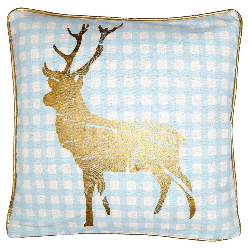 a12236x.jpg - Kuddfodral Reindeer, Pale blue - Elsashem Butiken med det lilla extra...