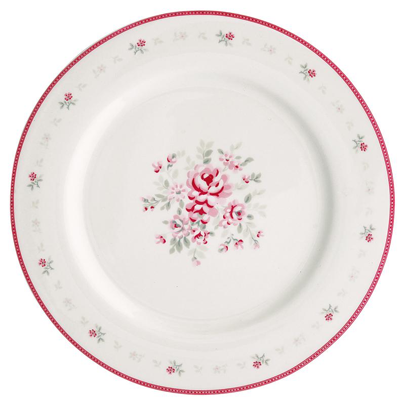 a12241x.jpg - Mattallrik Flora, White - Elsashem Butiken med det lilla extra...