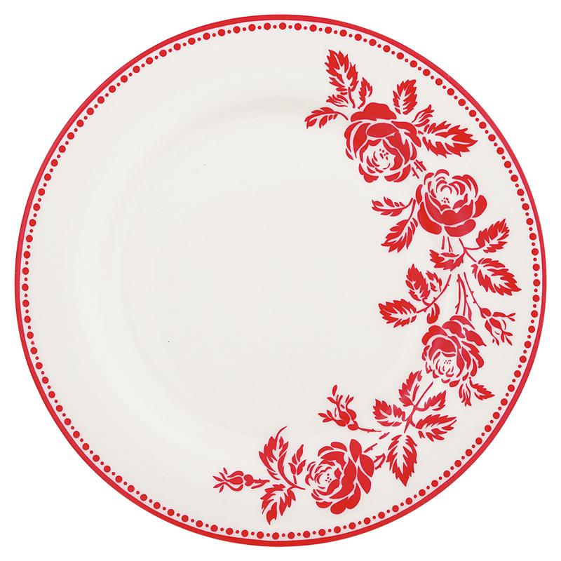 a12308x.jpg - Assiette Fleur, Red - Elsashem Butiken med det lilla extra...