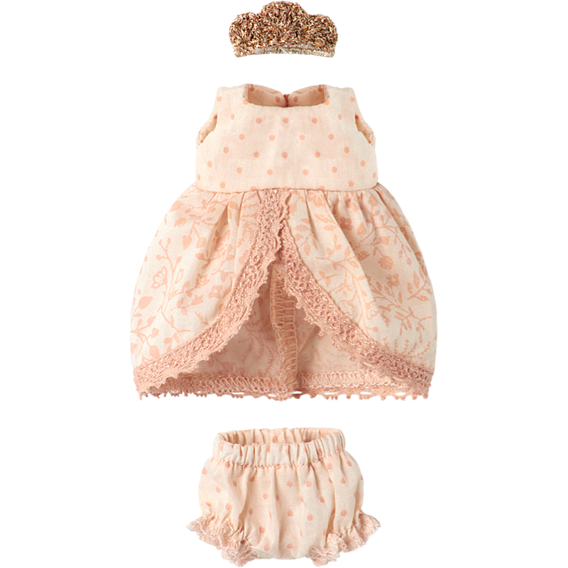 a12409x.jpg - Princess dress Rose, Micro and mouse - Elsashem Butiken med det lilla extra...