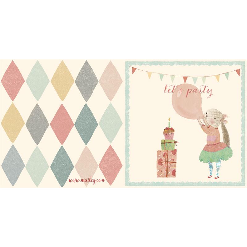 a12413x.jpg - Kort med kuvert, Bunny Ballon - Elsashem Butiken med det lilla extra...