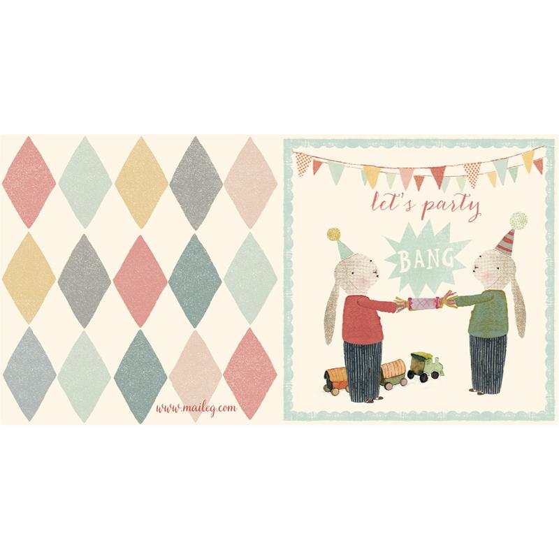 a12414x.jpg - Kort med kuvert, Bunnies with Cracker - Elsashem Butiken med det lilla extra...