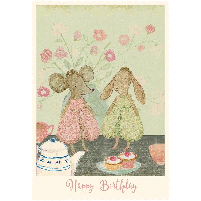 a12416x.jpg - Kort med kuvert, Princess Mice - Elsashem Butiken med det lilla extra...