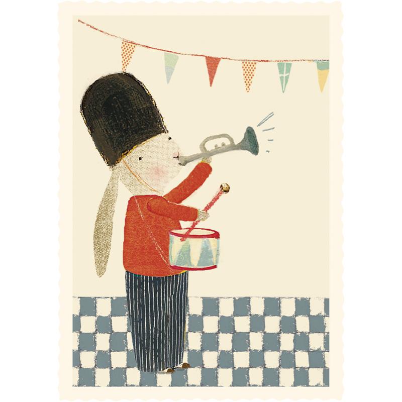 a12418x.jpg - Litet kort, Skittle Bunny - Elsashem Butiken med det lilla extra...