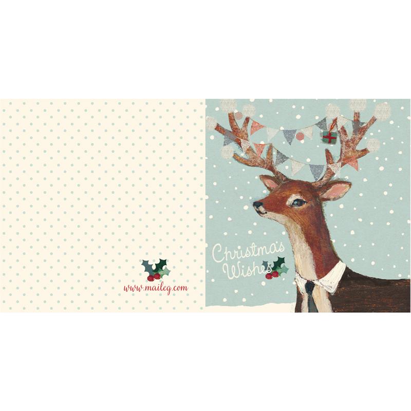 a12420x.jpg - Kort med kuvert, Reindeer - Elsashem Butiken med det lilla extra...