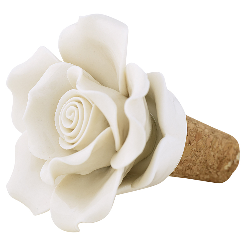 a12464x.jpg - Wine stopper flower, Off white - Elsashem Butiken med det lilla extra...