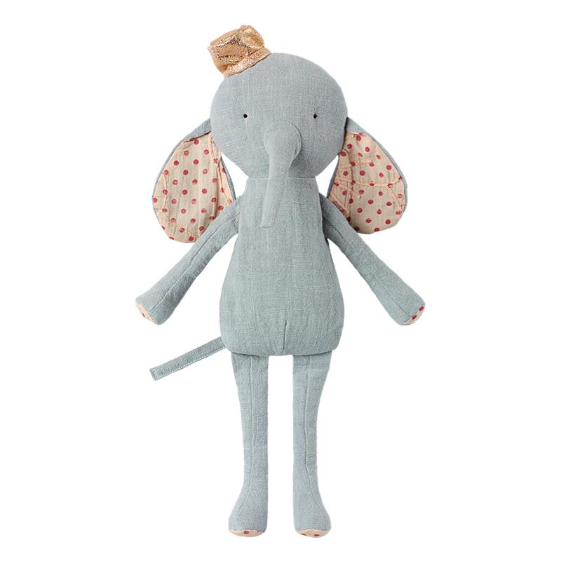 a12515-2x.jpg - Circus Friends Elephant with hat, Blue - Elsashem Butiken med det lilla extra...