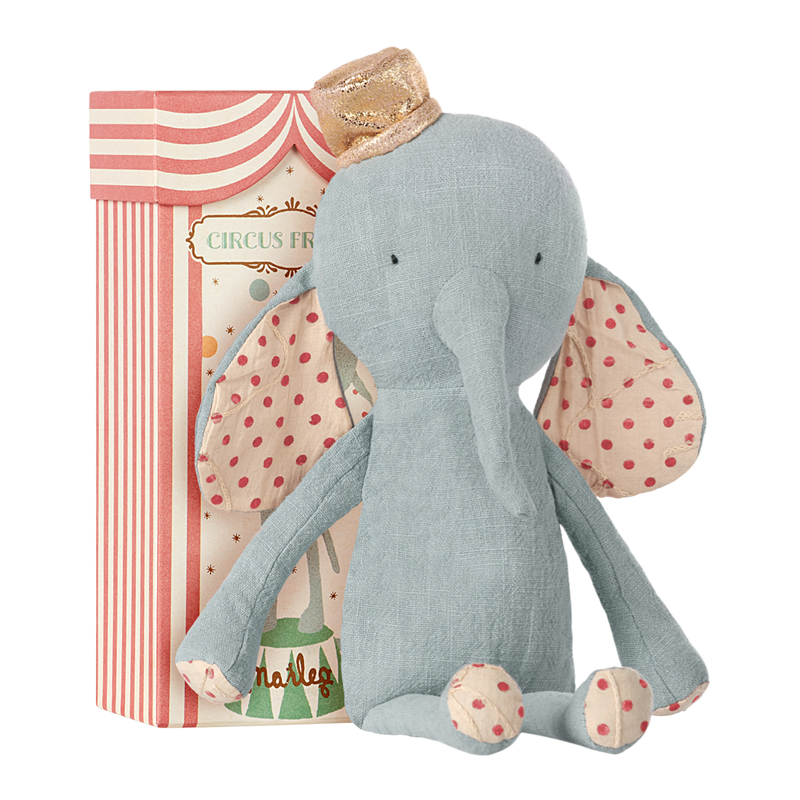 a12515x.jpg - Circus Friends Elephant with hat, Blue - Elsashem Butiken med det lilla extra...